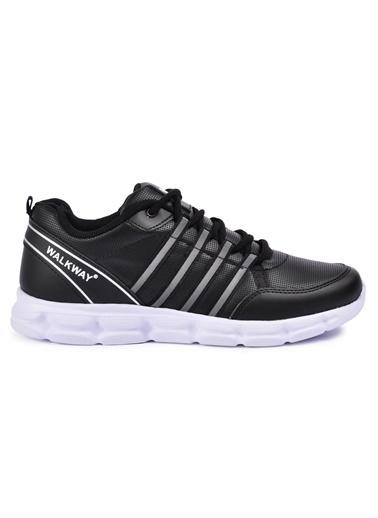 Walkway Wlk231876 Füme-Beyaz Erkek Spor Ayakkabı Siyah